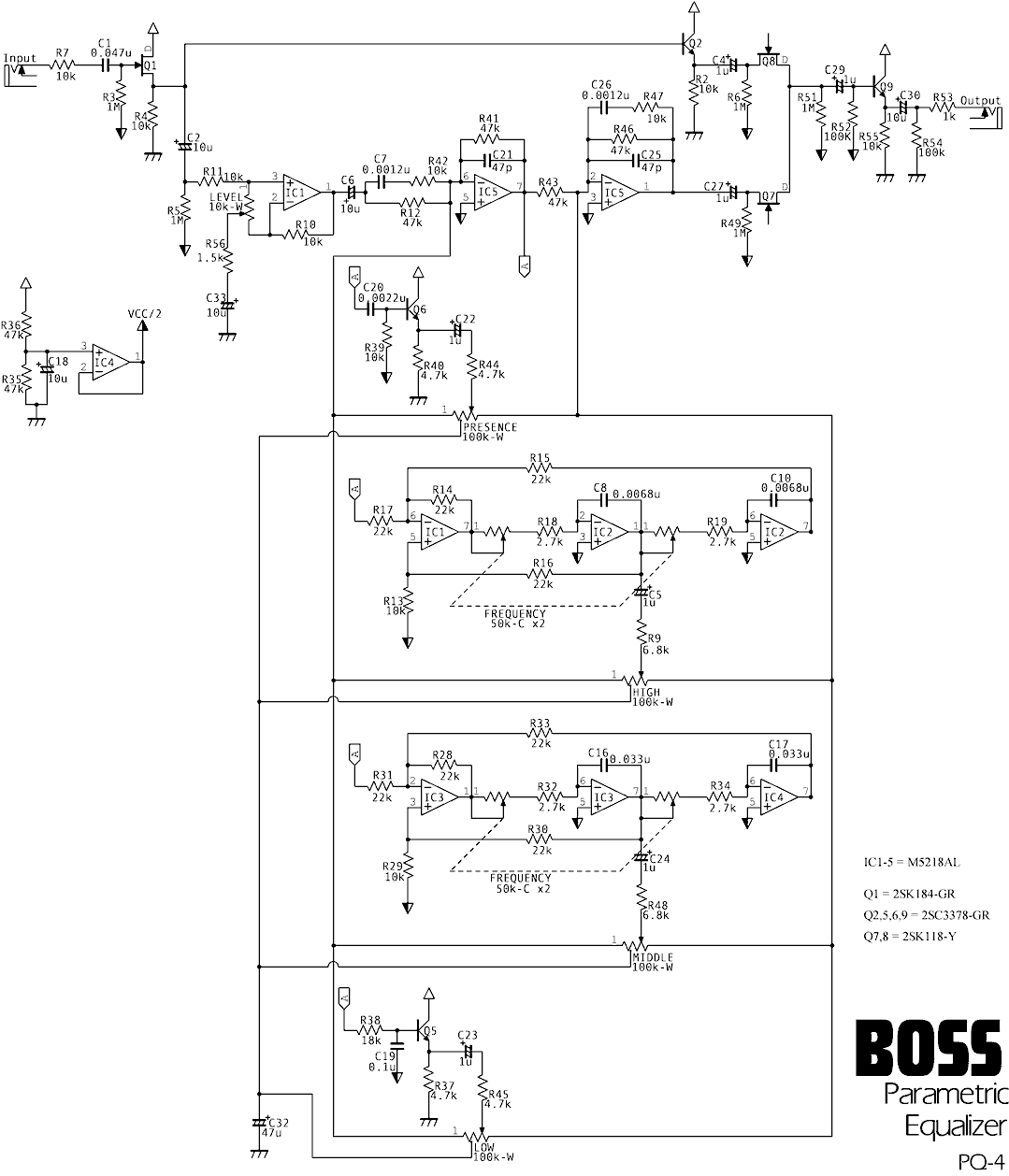 boss pq 4 parametric equalizer schematic needed. Black Bedroom Furniture Sets. Home Design Ideas