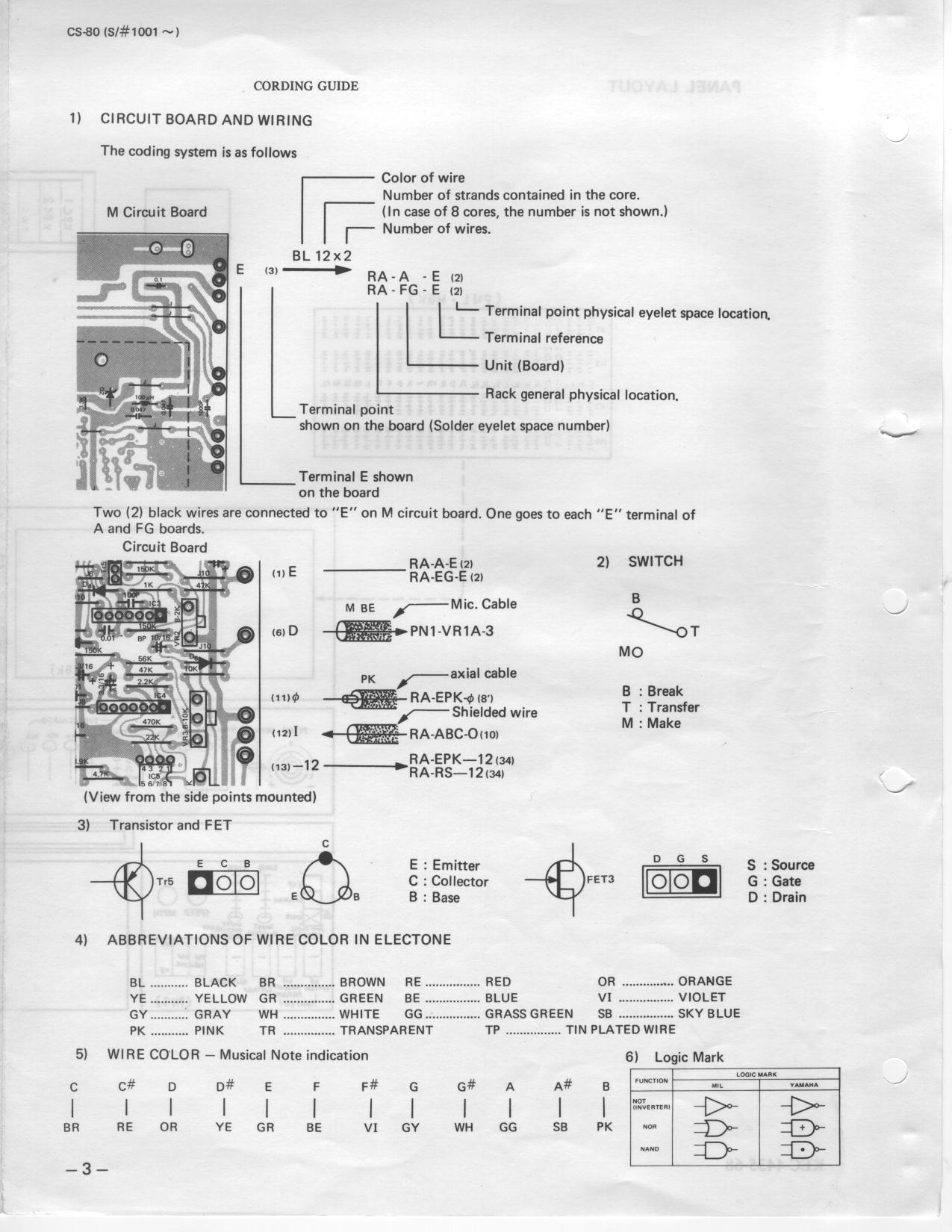 Assembly Plan Circuit Board Schematics Color Codes For Wiring To The Boards