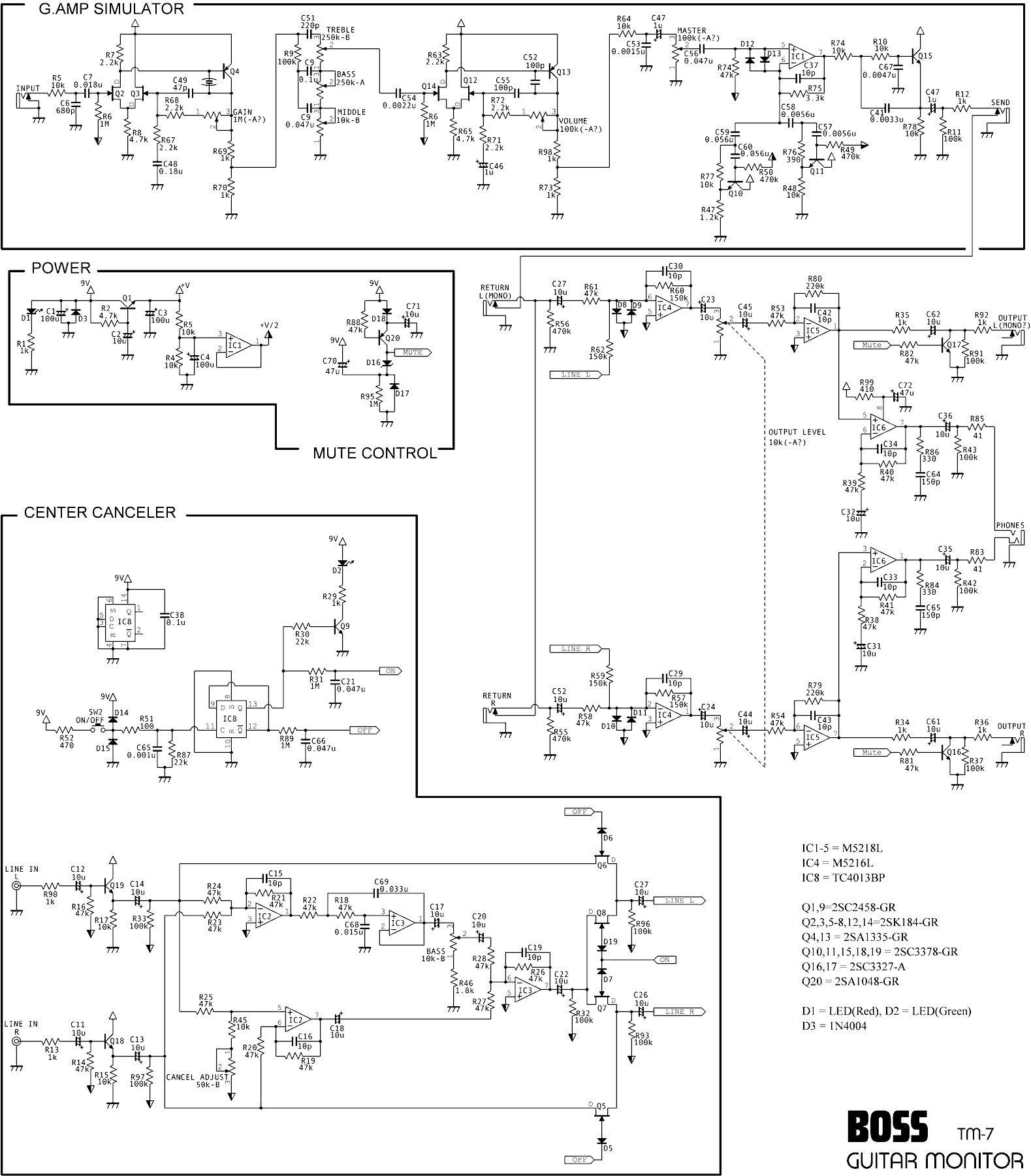 Schematics Synthesizer Wiring Diagram For The Boss Tm 7